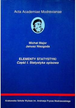 Elementy statystyki część I