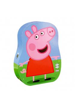 Puzzle dla dzieci w ozdobnym pudełku Świnka Peppa