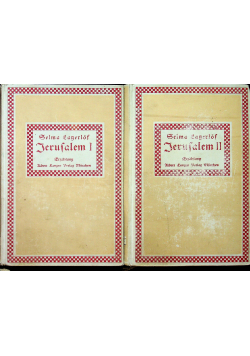 Jerusalem tom I i II 1909 r