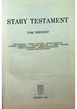Pismo święte Stary Testament tom I