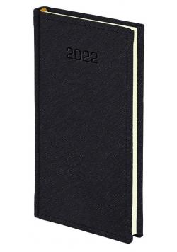 Kalendarz 2022 A6 tygodniowy Cross czarny
