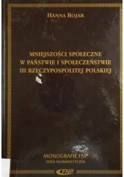 Mniejszości społeczne w państwie i społeczeństwie III Rzeczypospolitej Polskiej