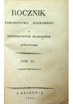 Rocznik Towarzystwa Naukowego tom VI 1821 r.