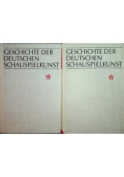 Geschichte der Deutschen Schauspielkunst 2 tomy
