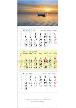 Kalendarz 2022 trójdzielny KT 03 Łódka