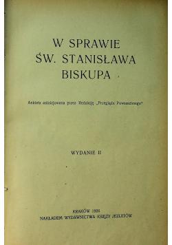 W sprawie Św Stanisława biskupa 1926 r.