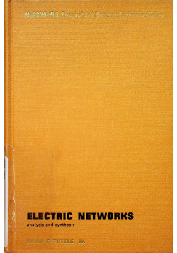 Electric networks Analysis and synthesis