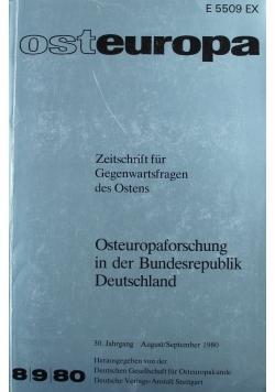 Osteuropa 8 / 9 Zeitschrift fur Gegenwartsfragen des Ostens