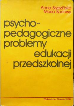 Psychopedagogiczne problemy edukacji przedszkolnej