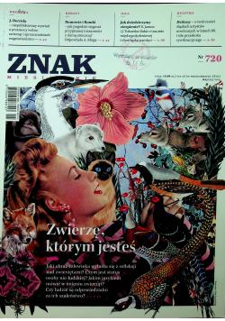 Znak Miesięcznik Zwierzę którym jesteś Nr 720