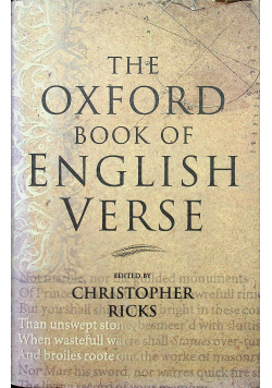 The Oxford Book of English Verse by