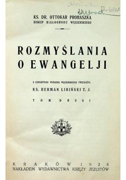 Rozmyślania o ewangelji tom II 1926 r