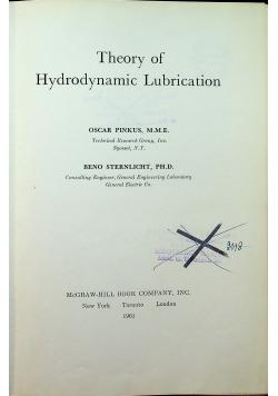 Theory of hydrodynamic lubrication