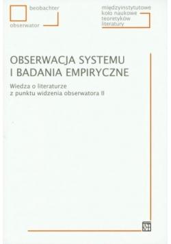 Obserwacja systemu i badania empiryczne