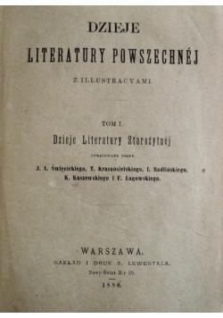 Dzieje Literatury Powszechnej Tom I 1880 r.