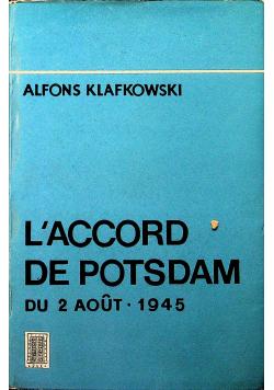 L Accord De Potsdam