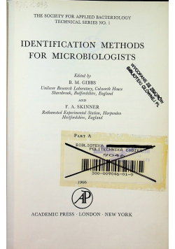 Identification methods for microbiologists