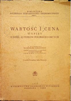 Wartość i cena Wypisy z dzieł autorów polskich i obcych 1949 r.