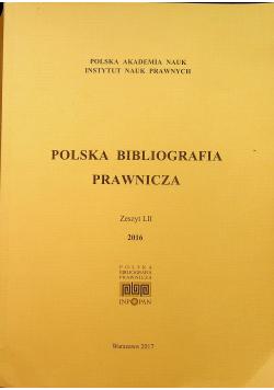 Polska Bibliografia Prawnicza Zeszyt LII