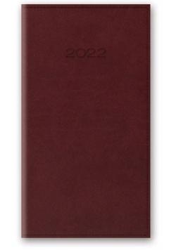 Kalendarz 2022 11T A6 kieszonkowy bordowy vivella