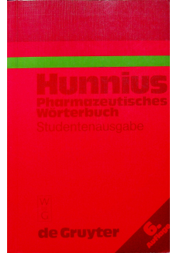 Hunnius pharmazeutisches Worterubh