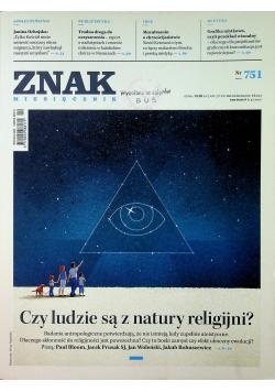 Znak Miesięcznik 751 Czy ludzie są z natury religijni