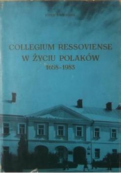 Collegium Ressoviense w życiu Polaków 1658  1983
