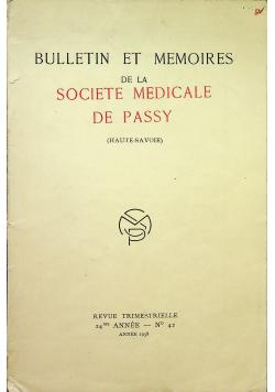Bulletin et memoires de la societe medicale de passy