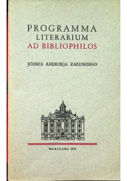Programma Literarium Ad Bibliophilos