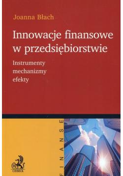 Innowacje finansowe w przedsiębiorstwie plus autograf Błach