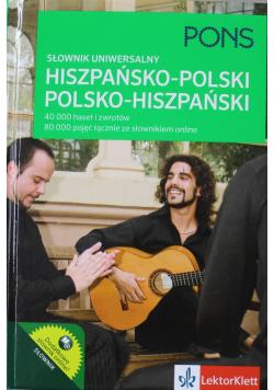 Słownik uniwersalny hiszpańsko polski  polsko hiszpański