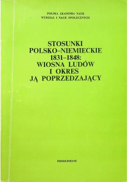 Stosunki polsko niemieckie 1831 1848