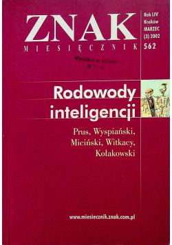 Znak nr 562 Rodowody inteligencji