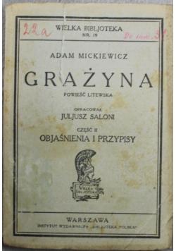 Grażyna powieść litewska 1922 r.