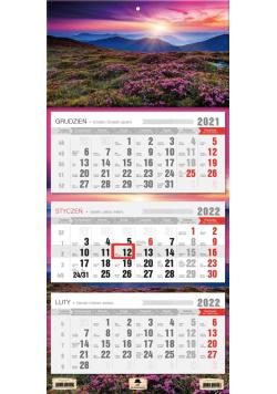 Kalendarz 2022 trójdzielny Polana