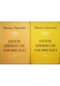 Dzieje literatury niemieckiej 2 Tomy
