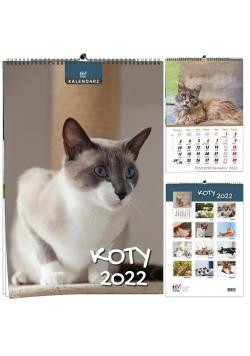 Kalendarz 2022 B3 7 plansz Koty