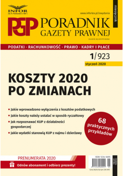 Koszty 2020 po zmianach