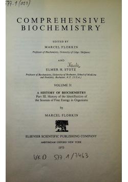 Comprehensive biochemistry