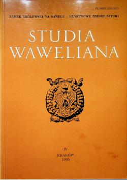Studia waweliana IV