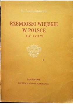 Rzemiosło wiejskie w Polsce XIV XVII w