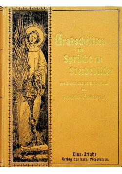 Grabschriften und Spruche fur Sterbebilder 1901 r.