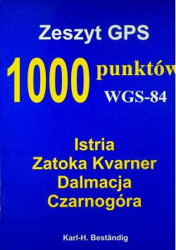 Zeszyt GPS 1000 punktów WGS 84