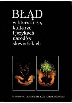 Błąd w literaturze kulturze i językach narodów słowiańskich
