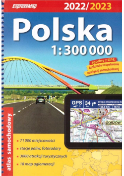 Atlas samochodowy Polska 1:300 000 w.2022/2023