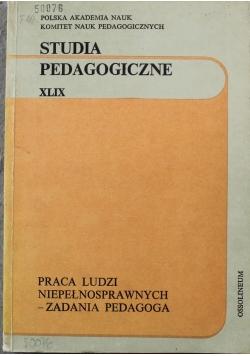 Studia Pedagogiczne XLIX