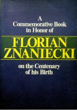 A commemorative book in honor of Florian Zaniecki