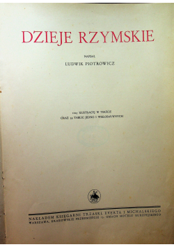 Wielka Historja powszechna tom III Dzieje Rzymskie 1934 r
