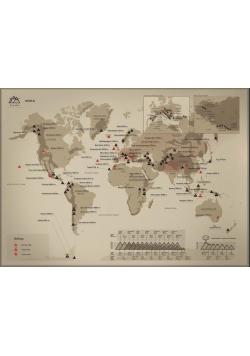 Mapa zdrapka - Mountain Peaks World