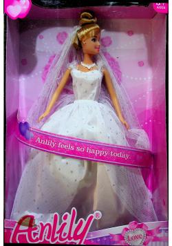 Lalka Anlily 30 cm w sukni ślubnej plus akcesoria Nowa